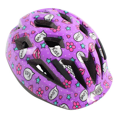 ABUS Kinderhelm Smooty 2.0 Purple Kisses S