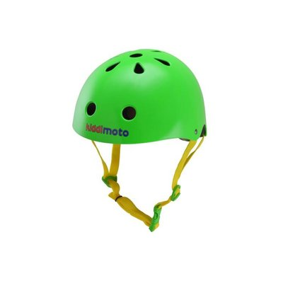 Kiddimoto Kinderhelm Neon Green Medium