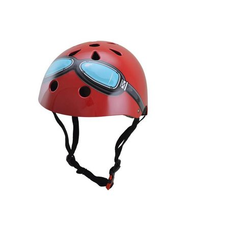 Kiddimoto Kinderhelm Red Goggle Small