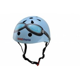 Kiddimoto Kinderhelm Blue Goggle Small