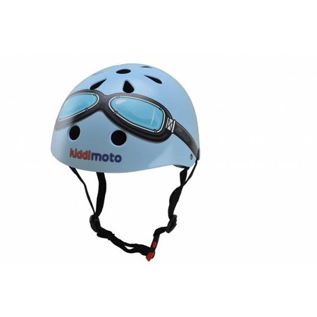 Kiddimoto Kinderhelm Blue Goggle Medium
