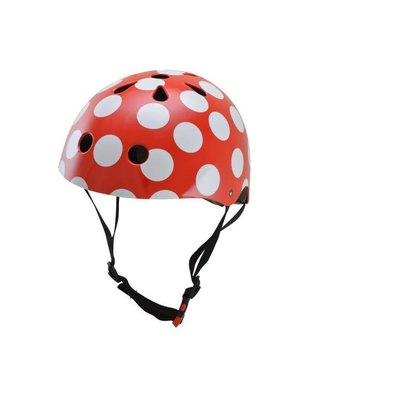 Kiddimoto Kinderhelm Red Dotty Medium