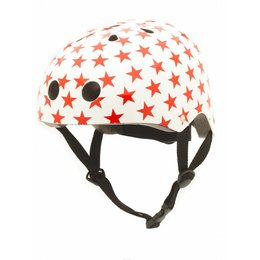 CoConuts Kinderhelm White With Red Stars Small