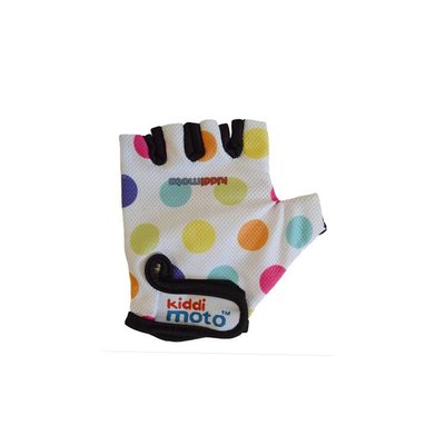 Kiddimoto Kinderfietshandschoen Pastel Dotty Medium