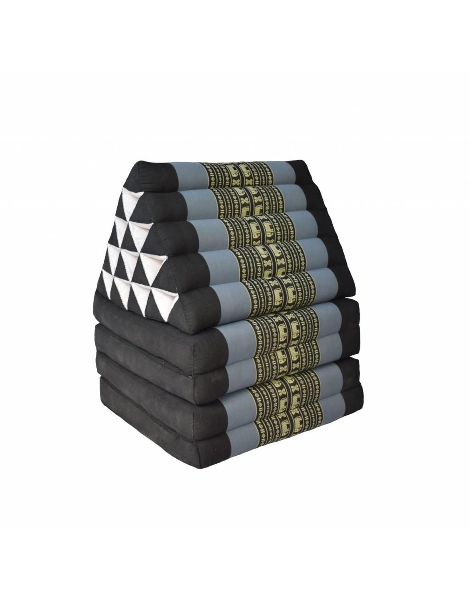 Thai Moonz Thai Floor Cushion Triangle Pillow XL 4 Mat Black/Grey