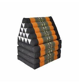 Thai Moonz Floor Cushion XL 4 Mat Black/Orange