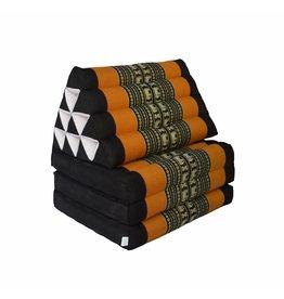 Thai Moonz Floor Cushion Original 3 Mat Black/Orange