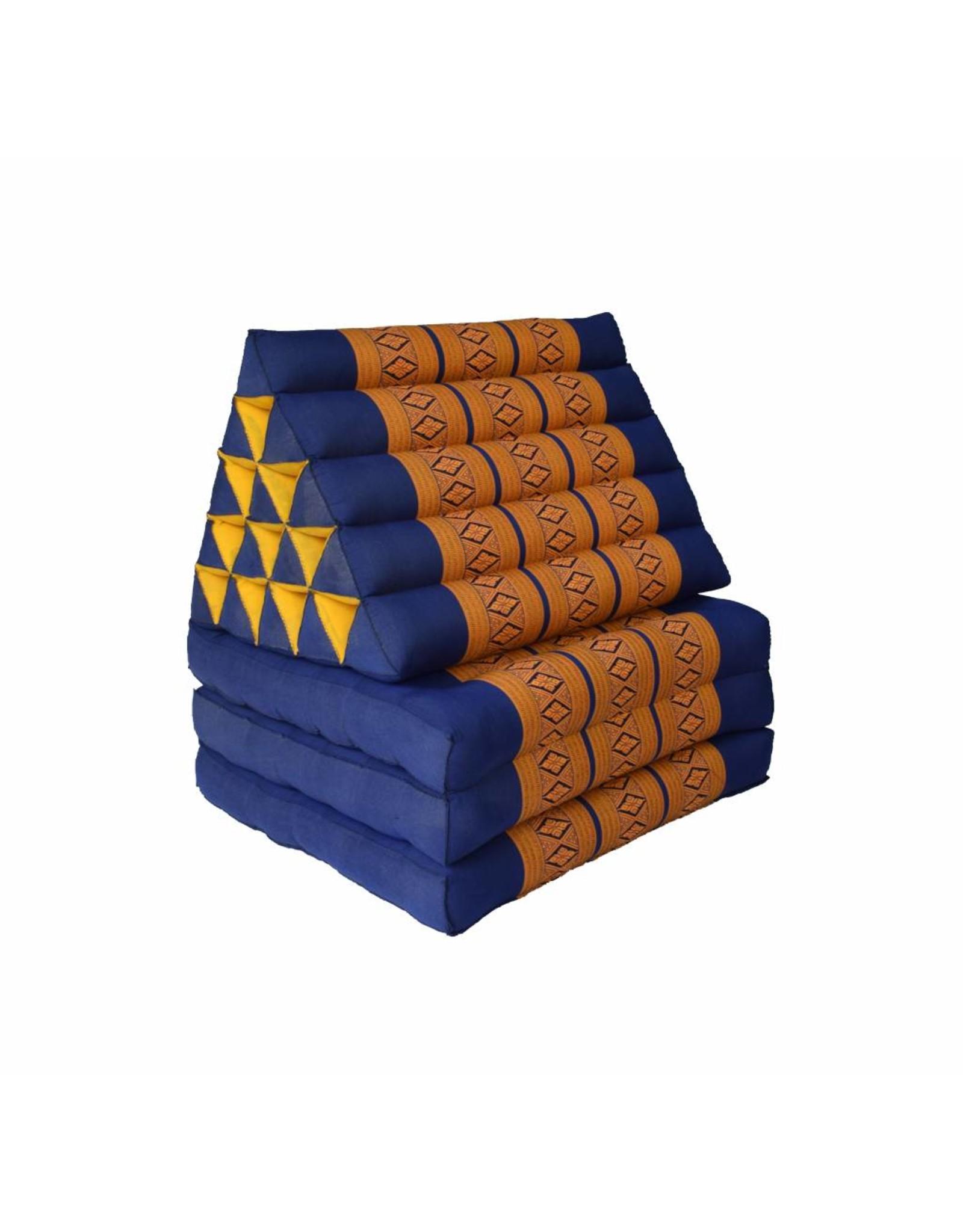 Thai Moonz Thais Vloerkussen en Ligkussen XL 3 Mat Kobaltblauw/Oranje