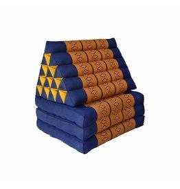 Thai Moonz Vloerkussen XL 3 Mat Kobaltblauw/Oranje