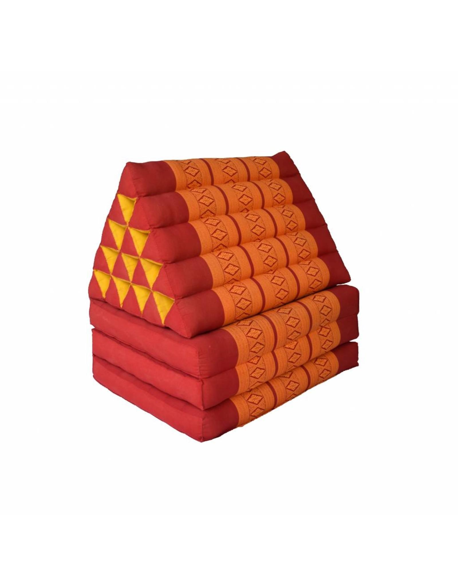 Thai Moonz Thai Floor Cushion Triangle Pillow XL 3 Mat Red/Orange