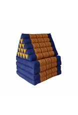 Thai Moonz Thais Vloerkussen en Ligkussen XL 4 Mat Kobaltblauw/Oranje