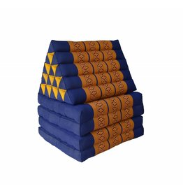 Thai Moonz Vloerkussen XL 4 Mat Kobaltblauw/Oranje