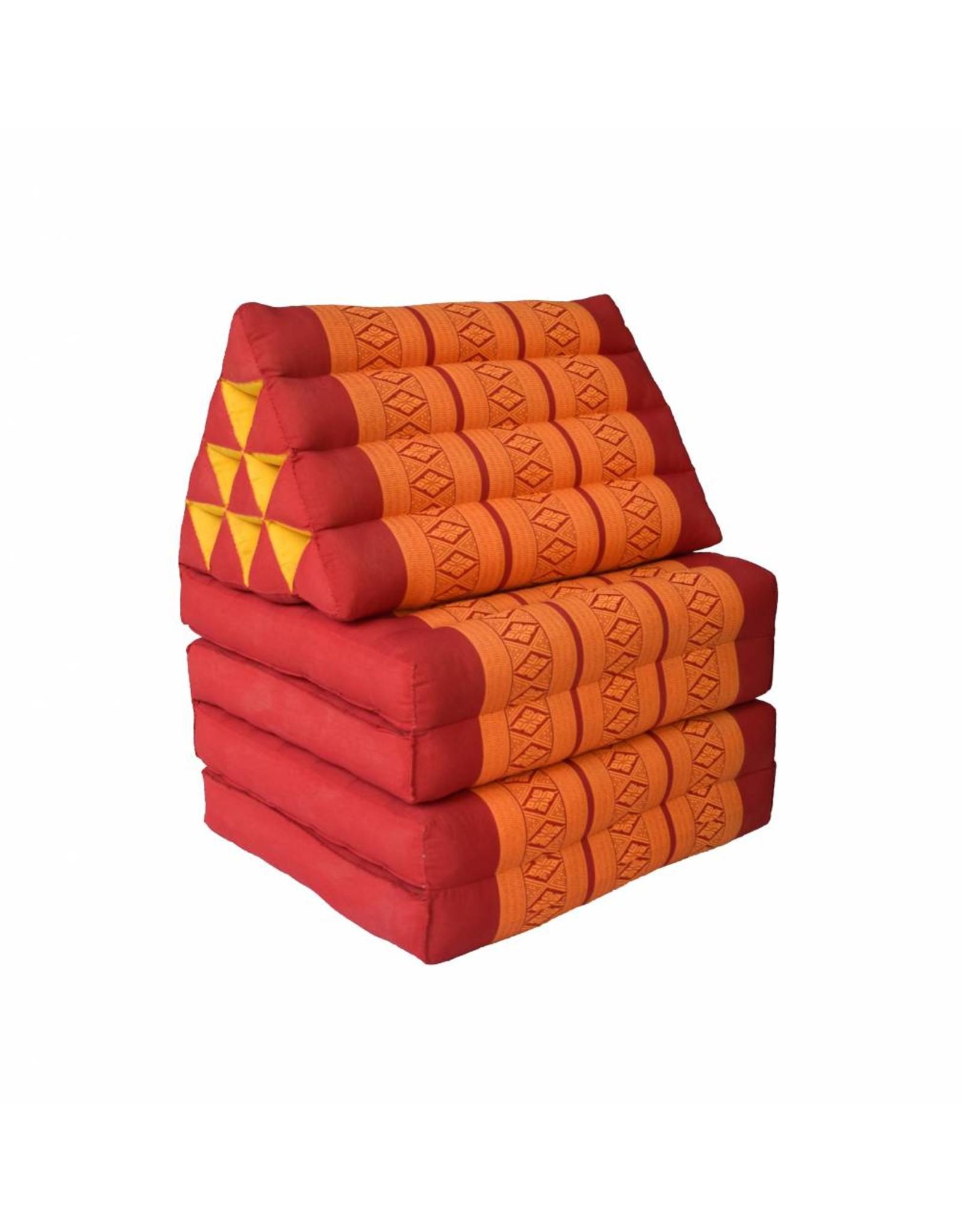 Thai Moonz Thai Floor Cushion Triangle Pillow Original 4 Mat Red/Orange