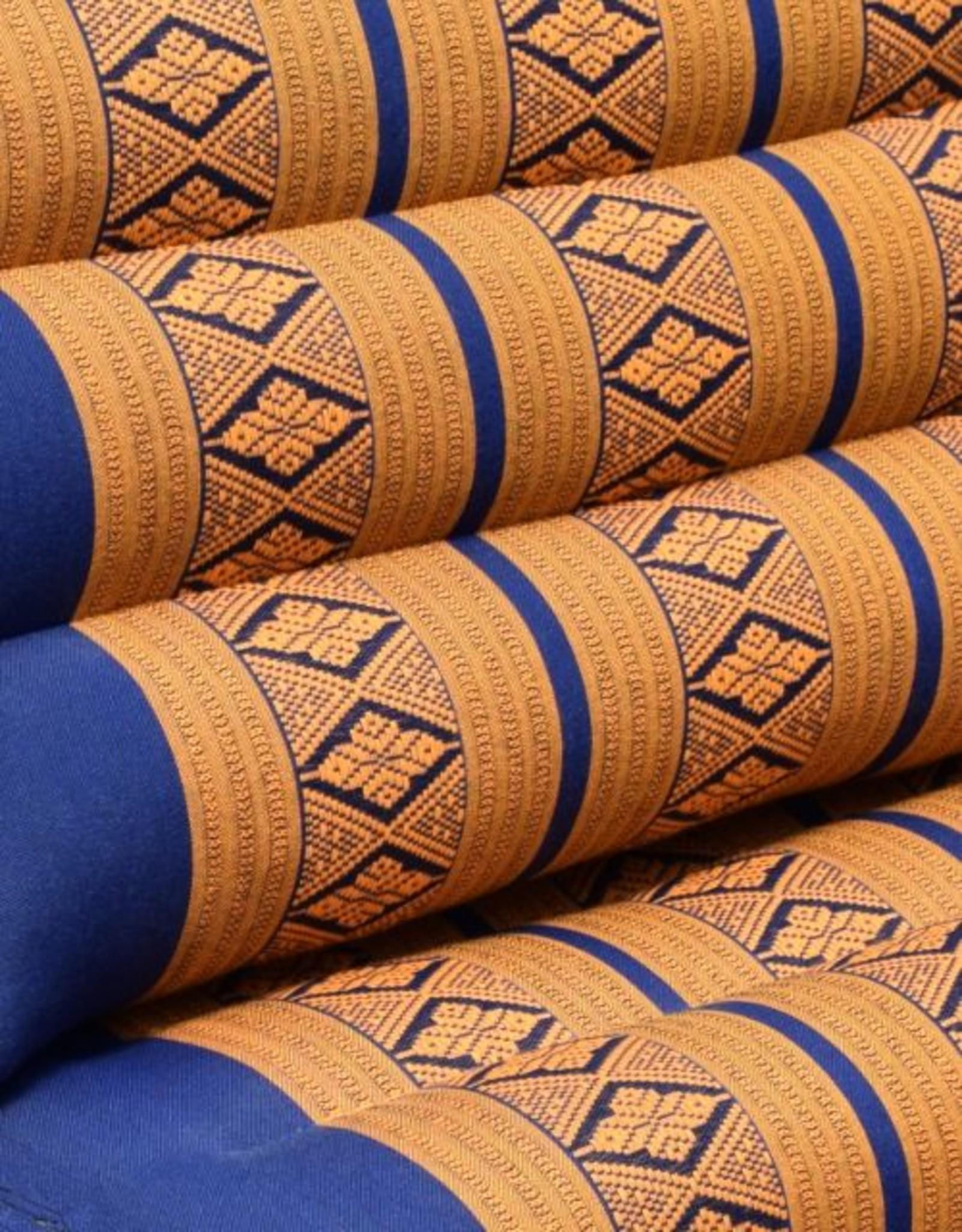 Thai Moonz Thais Vloerkussen en Ligkussen Original 3 Mat Kobaltblauw/Oranje