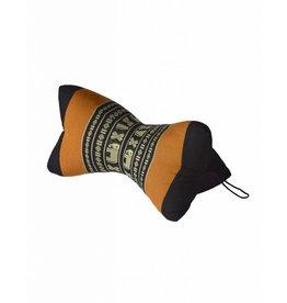 Thai Moonz Handmade Neck Pillow Star Black/Orange