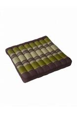 Thai Moonz Thai Seat Cushion and Garden Cushion (Large) Brown/Green