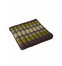 Thai Moonz Thai Seat Cushion / Garden Cushion (L) Brown/Green
