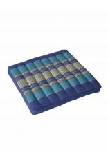 Thai Moonz Thai Seat Cushion and Garden Cushion (Large) Dark Blue/Blue