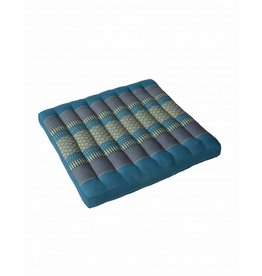 Thai Moonz Thai Seat Cushion / Garden Cushion (L) Blue/Grey