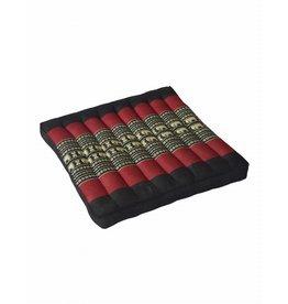 Thai Moonz Thai Seat Cushion / Garden Cushion (L) Black/Red
