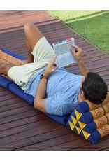Thai Moonz Thai Floor Cushion Triangle Pillow Original 3 Mat Blue/Grey