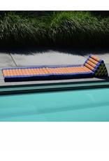 Thai Moonz Thai Floor Cushion Triangle Pillow XL 4 Mat Blue/Orange