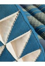 Thai Moonz Thai Floor Cushion Triangle Pillow Original 4 Mat Blue/Grey
