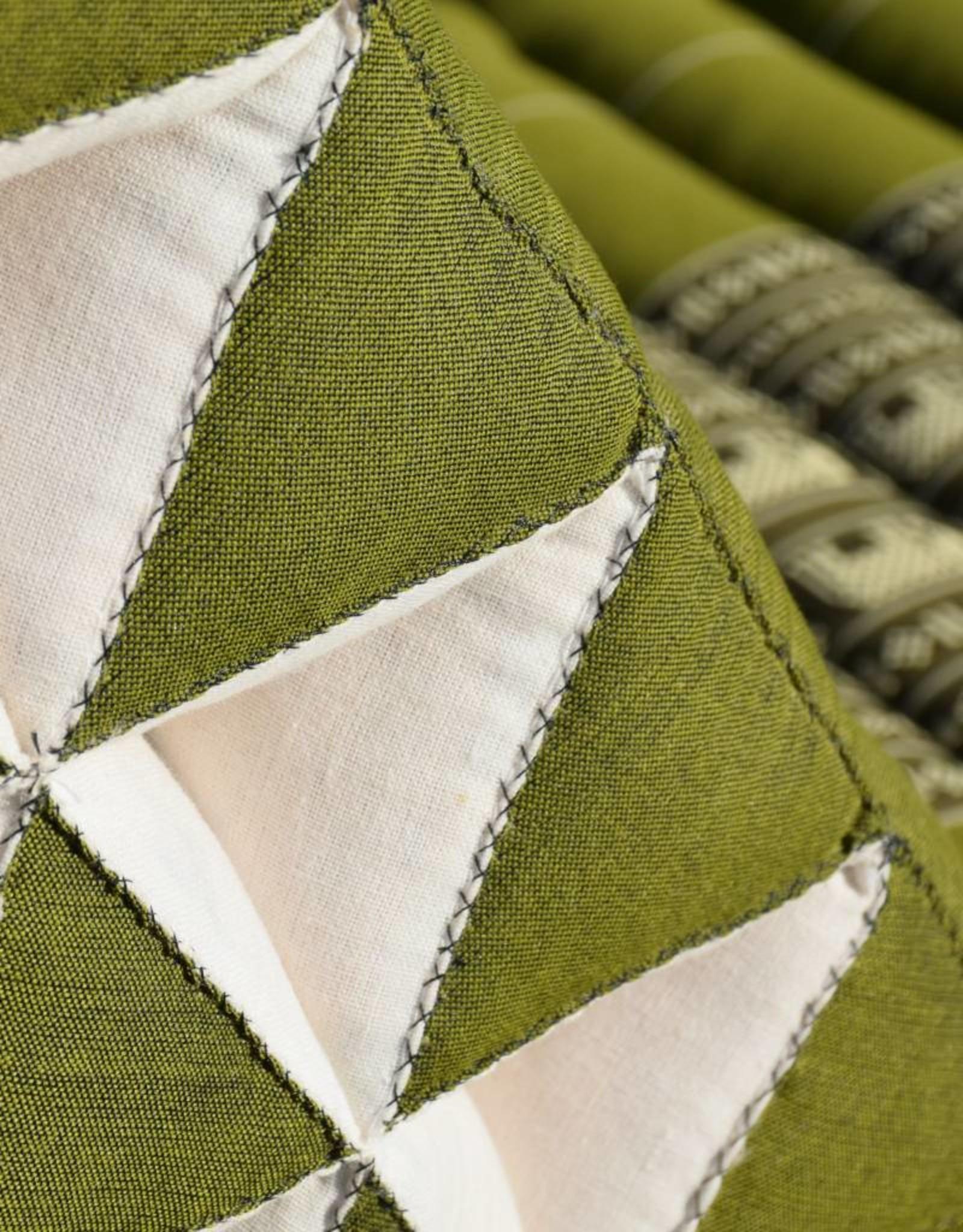 Thai Moonz Thai Floor Cushion Triangle Pillow Original 4 Mat Green