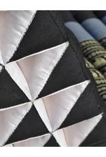 Thai Moonz Thai Floor Cushion Triangle Pillow Original 3 Mat Black/Grey