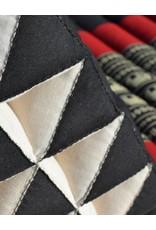Thai Moonz Thai Floor Cushion Triangle Pillow XL 3 Mat Black/Red
