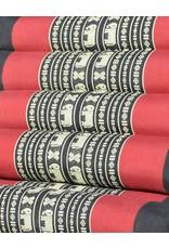 Thai Moonz Thai Floor Cushion Triangle Pillow Original 4 Mat Black/Red