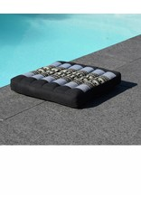 Thai Moonz Thai Seat Cushion and Laptop Cushion (Medium) Black/Grey