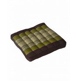 Thai Moonz Thai Seat Cushion / Laptop Cushion (M) Brown/Green