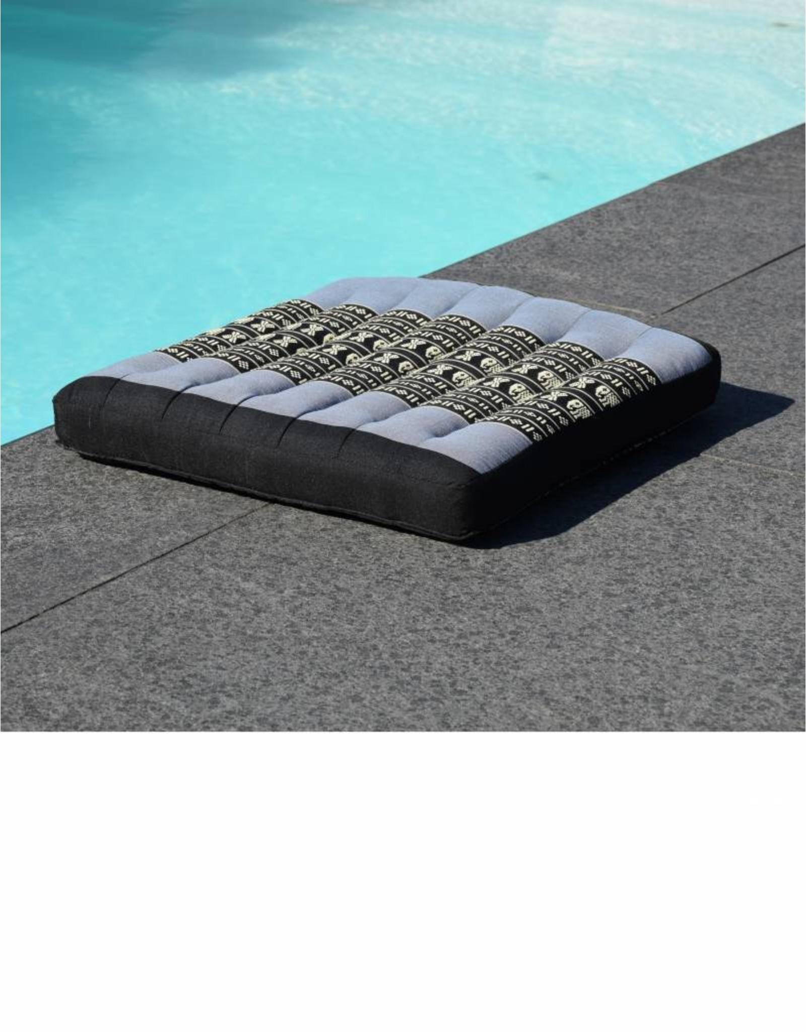 Thai Moonz Thai Seat Cushion and Garden Cushion (Medium/Large) Black/Grey