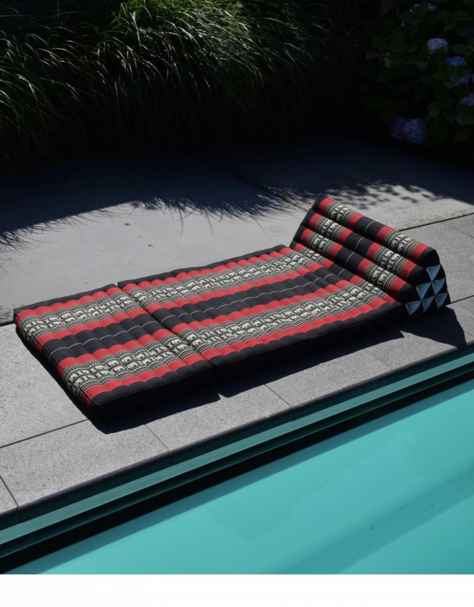 Thai Moonz Thai Floor Cushion Triangle Pillow Jumbo 3 Mat Black/Red