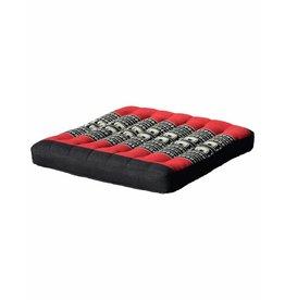 Thai Moonz Thai Seat Cushion / Garden Cushion (M/L) Black/Red