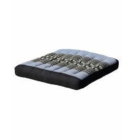 Thai Moonz Thai Seat Cushion / Garden Cushion (M/L) Black/Grey