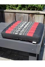 Thai Moonz Thai Seat Cushion and Laptop Cushion (Medium) Black/Red