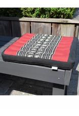 Thai Moonz Thai Seat Cushion and Garden Cushion (Medium/Large) Black/Red