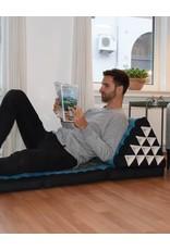 Thai Moonz Thai Floor Cushion Triangle Pillow XL 4 Mat Black/Red