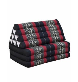 Thai Moonz Floor Cushion Jumbo 3 Mat Black/Red