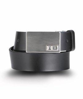 Initialbelt Herrengürtel Black   4 cm