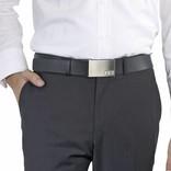 Initialbelt Exklusiver Herrengürtel Black 4 cm mit Ihren Initialen