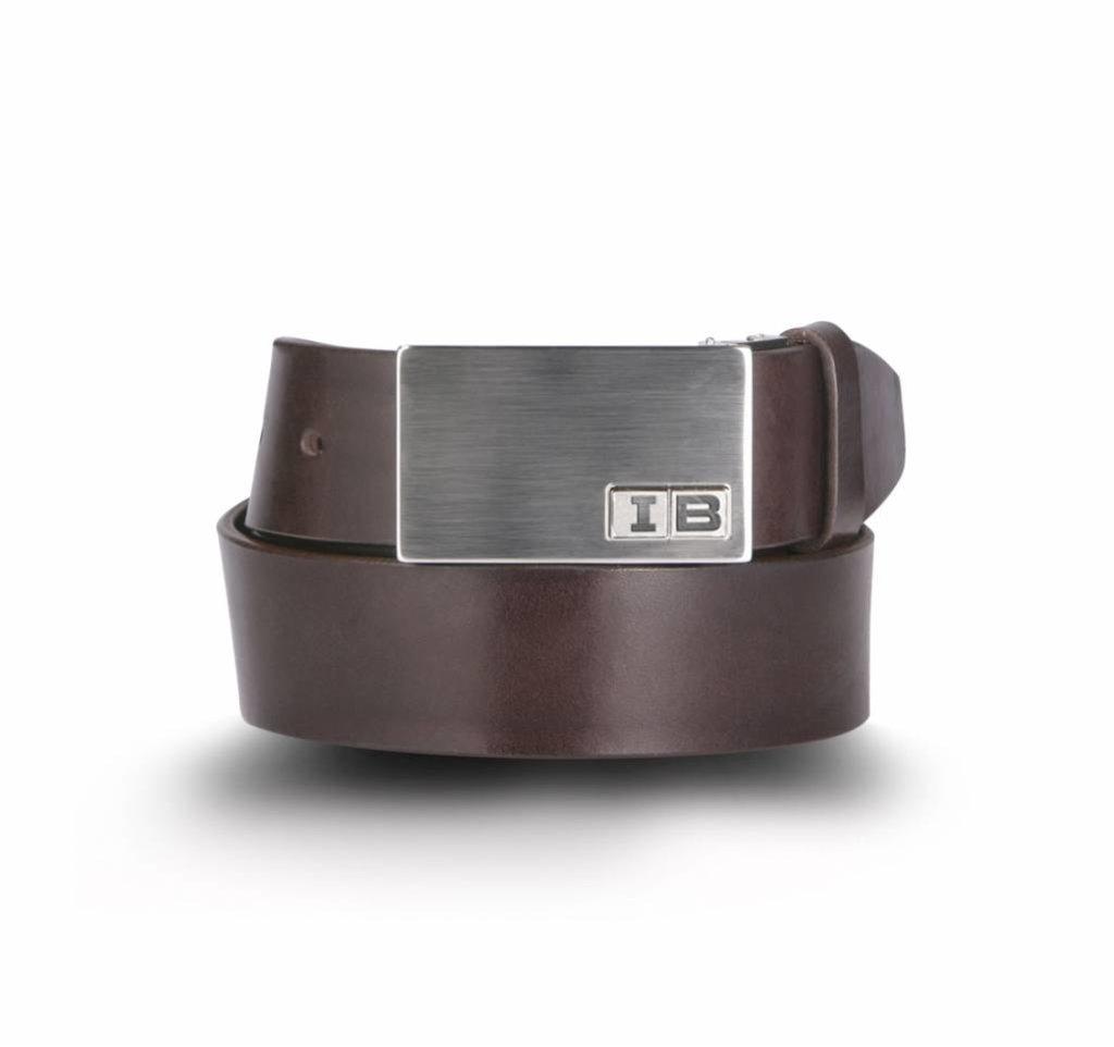 Initialbelt Exklusiver Herrengürtel Brown 4 cm mit Ihren Initialen
