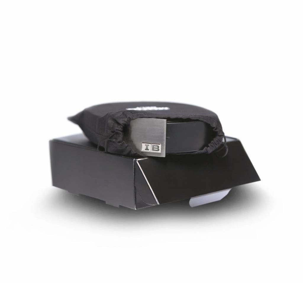 Initialbelt Exklusiver Herrengürtel Black 3 cm mit Ihren Initialen