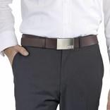 Initialbelt Exklusiver Herrengürtel Brown 3 cm mit Ihren Initialen