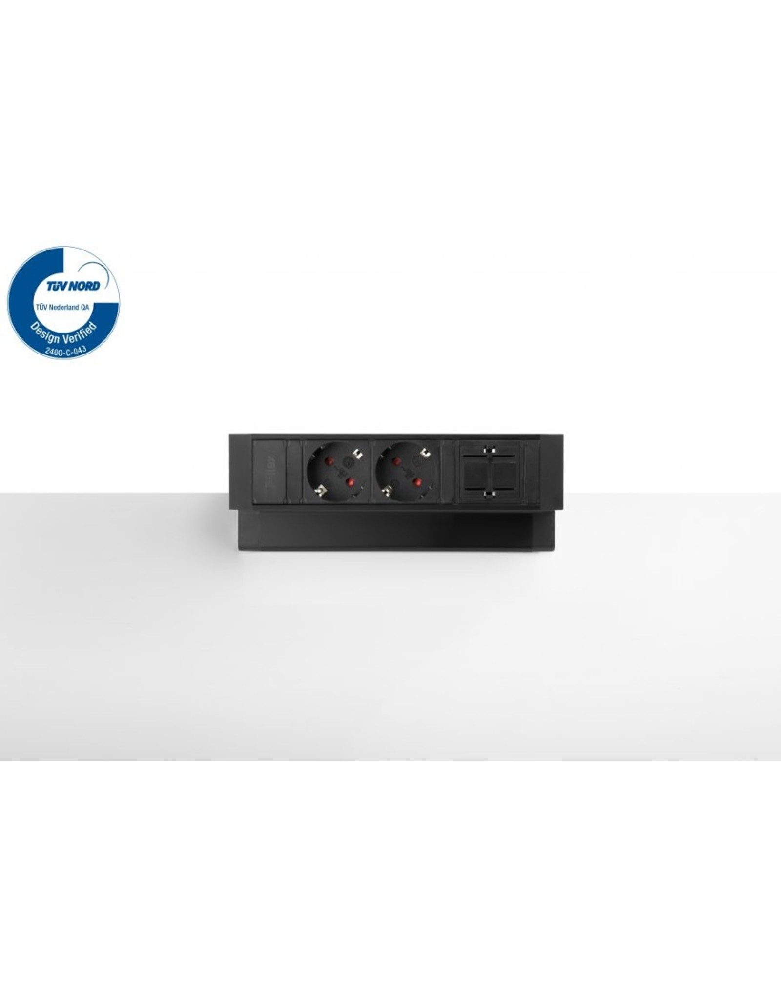 Ergo Power Desk up 2.0 - 2x 230V - 1x Keystone
