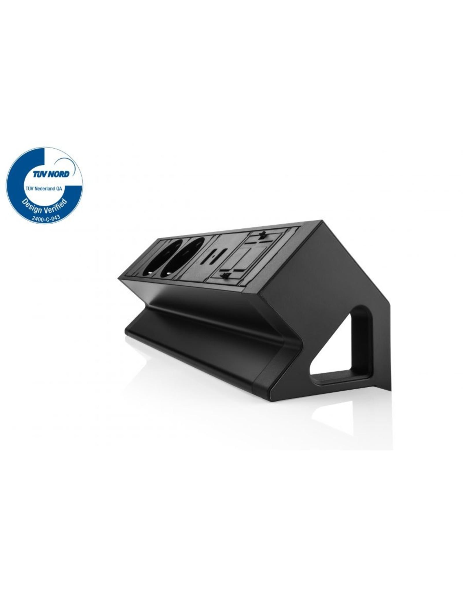 Filex Power Desk up 2.0 - 2x 230V - 2x USB charger - 1x keystone