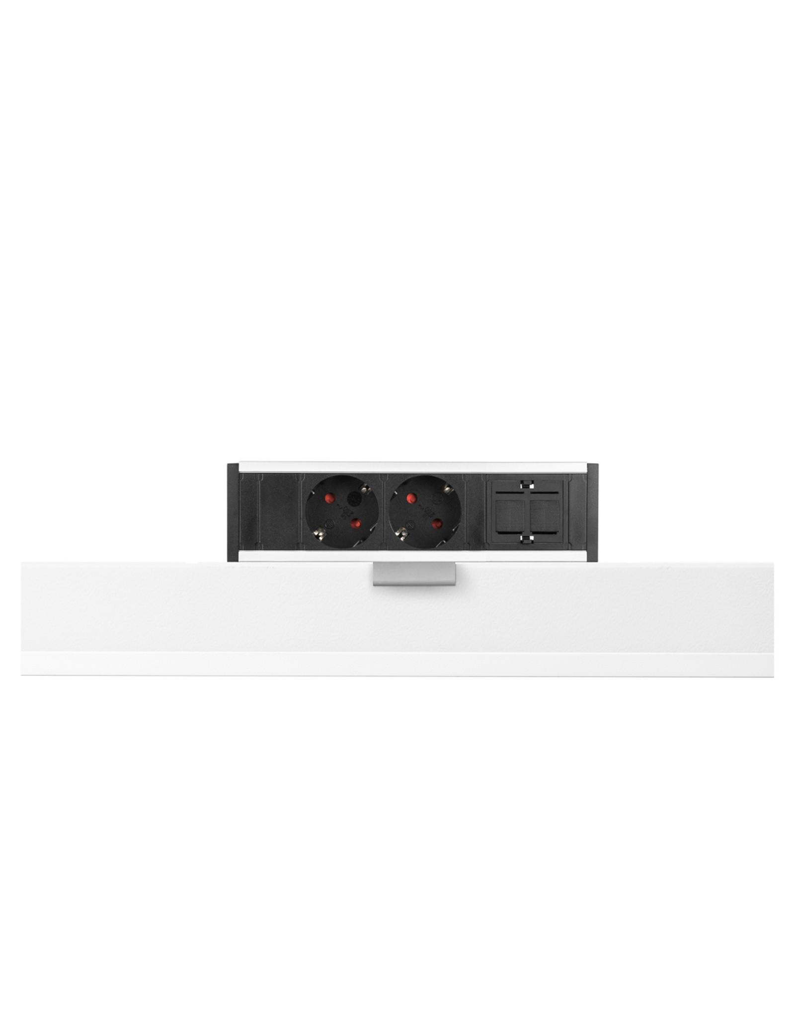 Ergo Power Desk up - 2x 230V - 1x Keystone