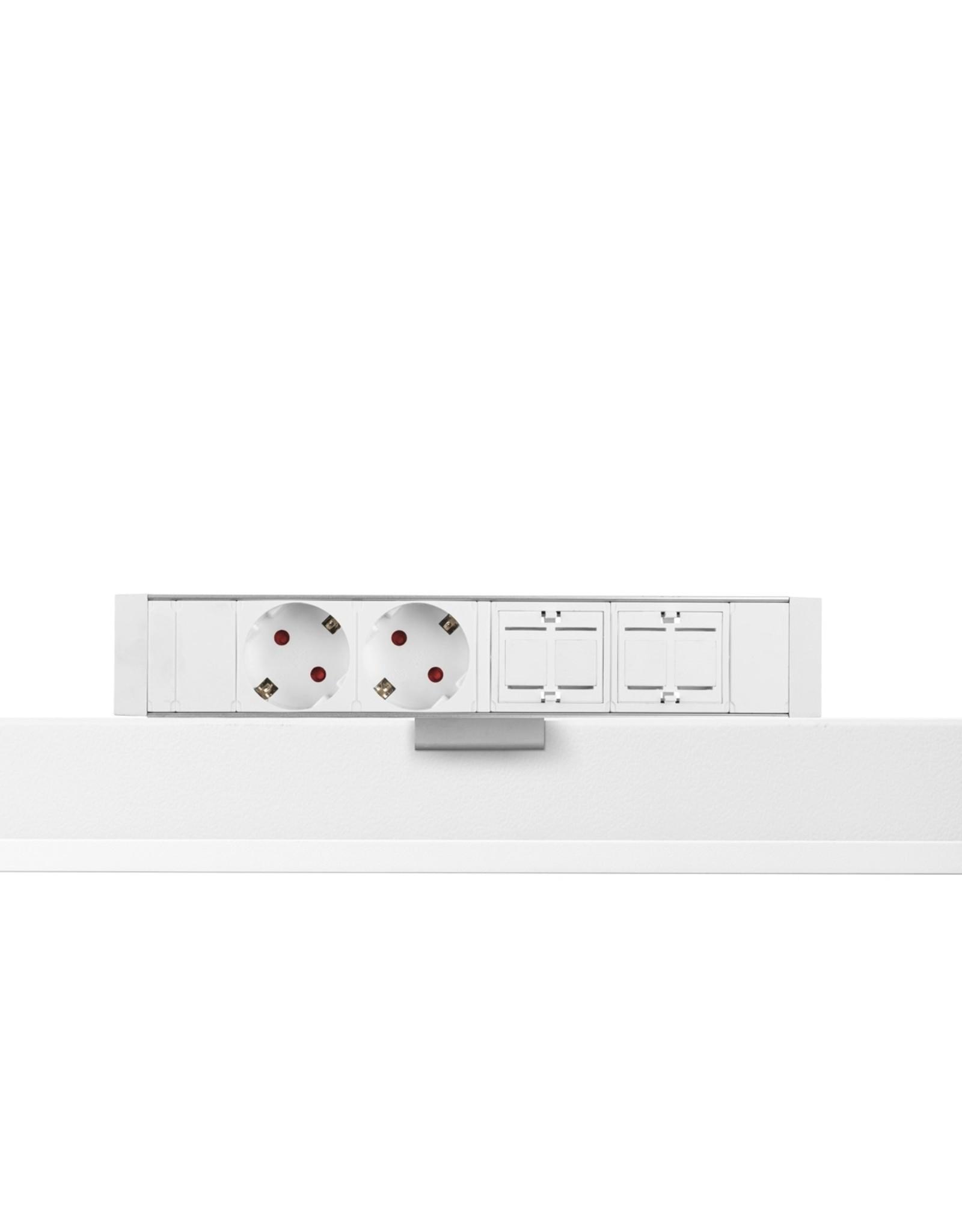 Filex Power Desk up - 2x 230V - 2x Keystone